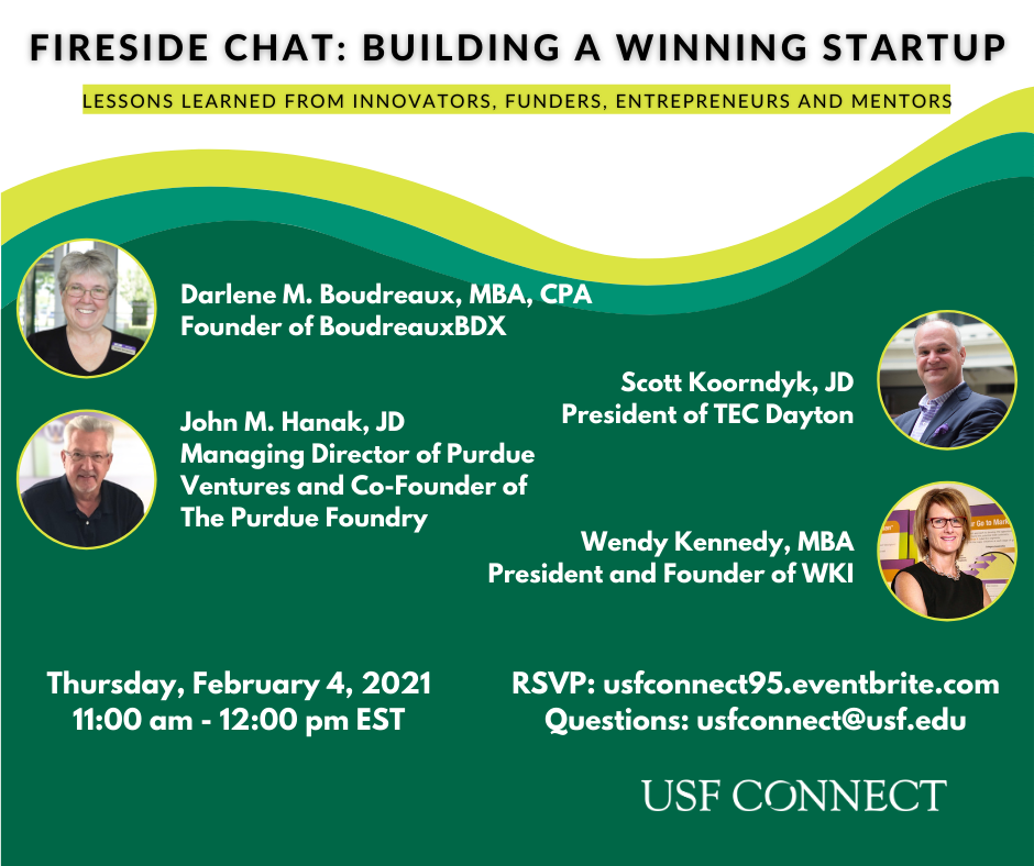 Join Us:  Virtual Fireside Chat on February 4th:  Innovators, Mentors, Funders and Entrepreneurs